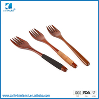 2016 Cathylin mini meat wooden spoon set fork and spoon set