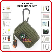 wholesale outdoor camping bag survival equipment list