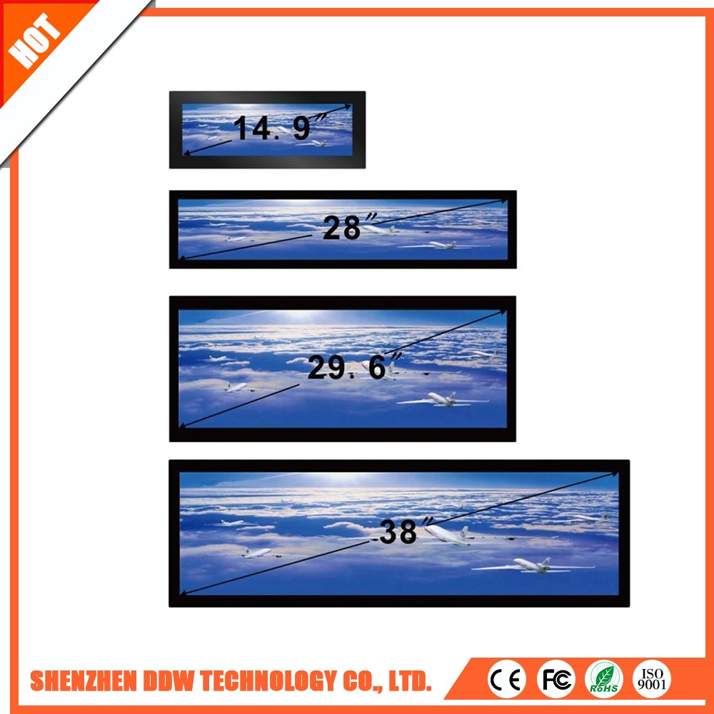 Newest 4000:1 ad Stretched touch screen as display video lcd wall