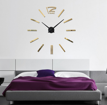 fashional Large DIY Wall Clock 3D Adhesive Mirror Acrylic Sticker Home decor