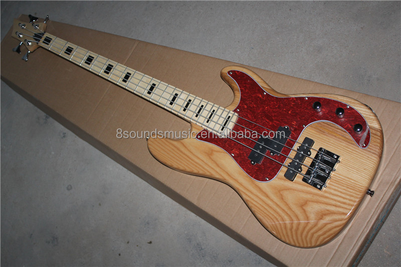 free shipping 4 string custom electric bass guitar can do OEM logo diy bass guitar kit for sale
