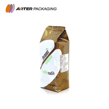 Custom printed plastic side gusset coffee bean packaging bags