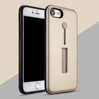 New Arrival 2017 Free Sample Cheap Price Hybrid Carbon Full Fit Shockproof Phone Case for iPhone 8 with Kickstand