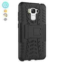 Hybrid shockproof kickstand case for zenfone 3 max zc553kl flip cover case for asus zenfone 3 max cover tpu