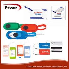 Luggage tag with ball pen / square tag for print logo / luggage tag with PVC tape