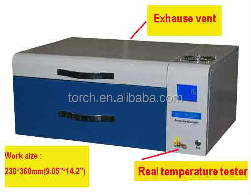 desktop lead free reflow solder with in-line temperature testing T200C+
