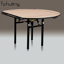YC-T46 Banquet restaurant Plywood round Square folding <strong>table</strong>