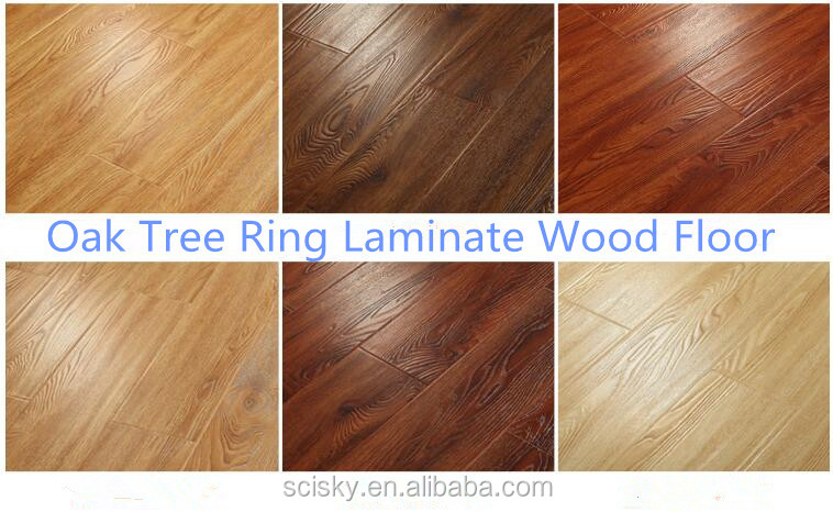 Anti Scratch OAK tree ring laminate wood floor stain resistant wood floor water proof laminate wood floor