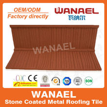 Sake/wood Wanael factory sale metal roofing product,stone coat metal roof tile