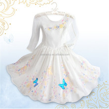 HOT new movie star elsa dress cosplay costume in frozen fabric QKC-1679