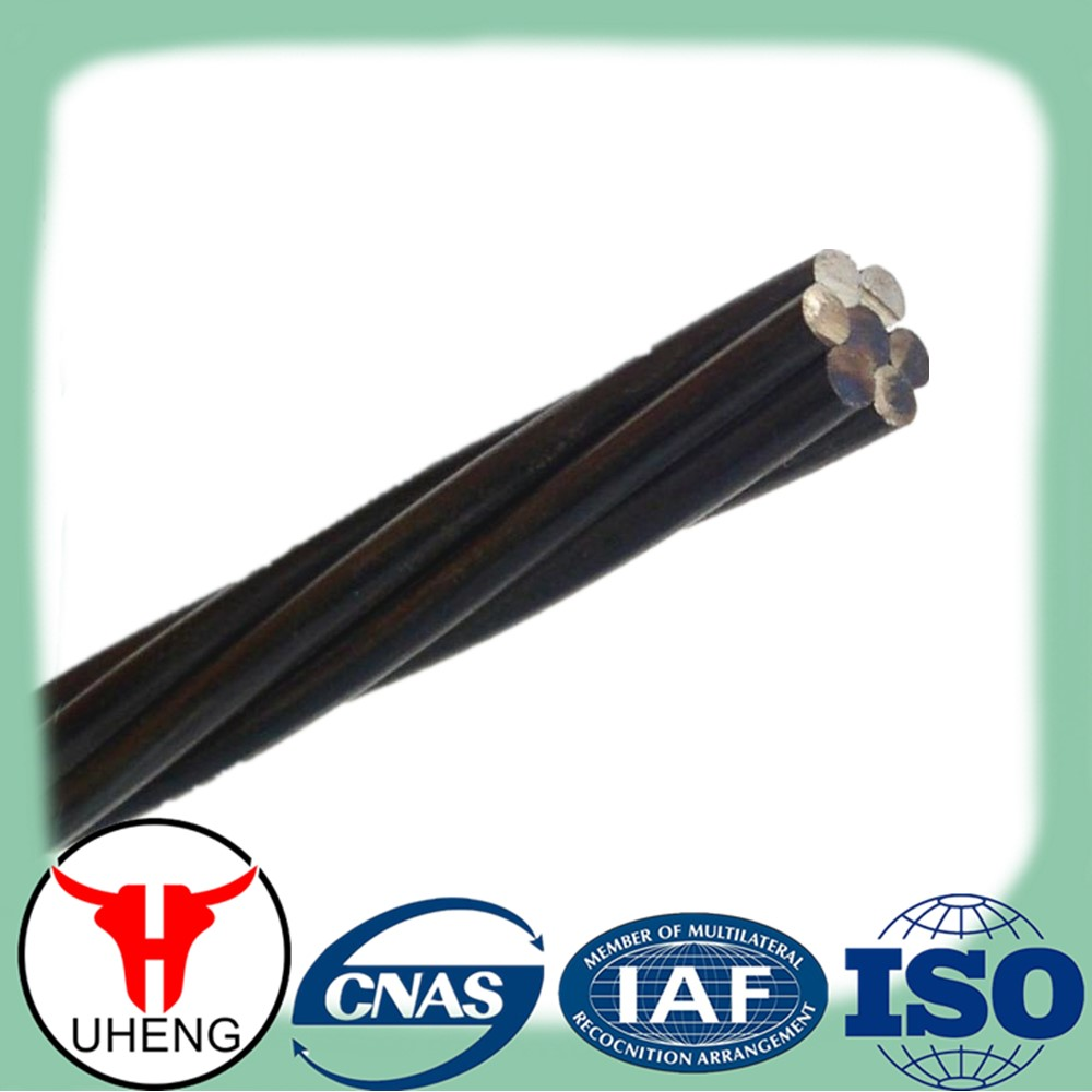 High tensile 1X7 wires prestressed concrete steel strand /stranded wire for construction