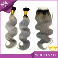 Cheap brazilian virgin human hair weaving hair 100% grey human hair weaving