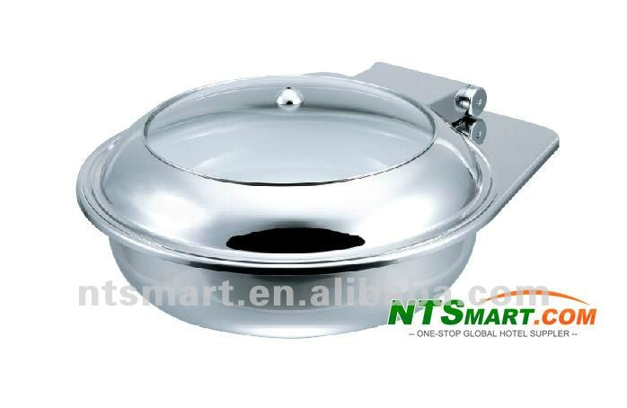Buffet Server/Chafing Dish with Stainless Steel Material and Transparent Glass Lid