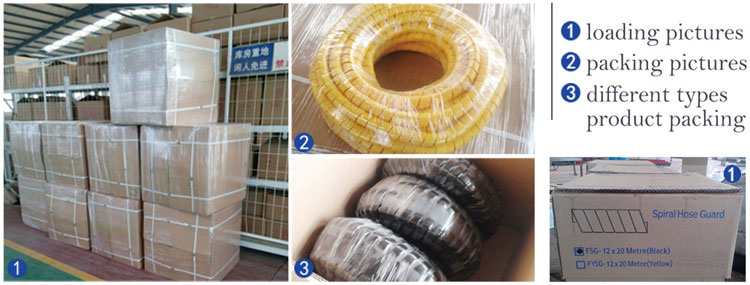 China best quality spiral wrap tubing factory supply