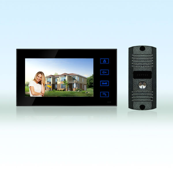 7inch wired color video door phone with LCD monitor CMOS DP-766 with high resoluotion bell 666