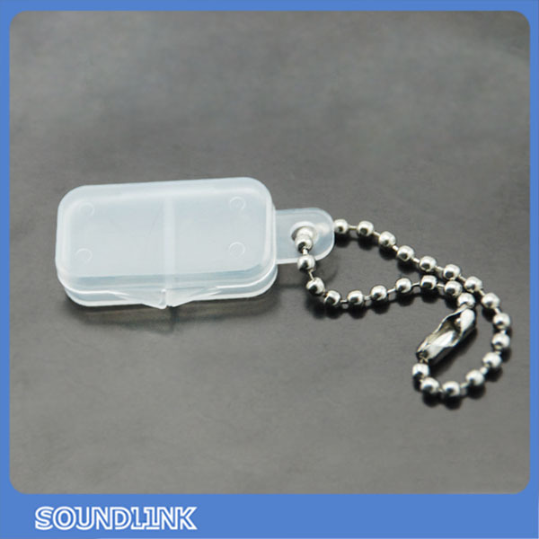 Portable cheap clear hearing aids battery storage case for two batteries