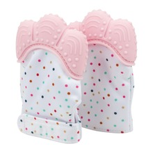 Wholesale Teether Toys Chewable Silicone Gloves Mitt Teething Mitten Toys For Baby