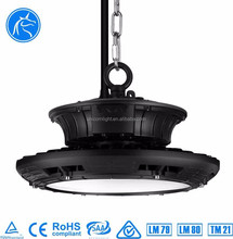 Commercial High Brightness SAA Ctick TUV Listed Daylight Sensor 100W LED Highbay Light UFO IP65 With Remote Control