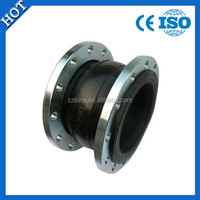 For power plant and hydraulic engineering rubber expansion joint with flange