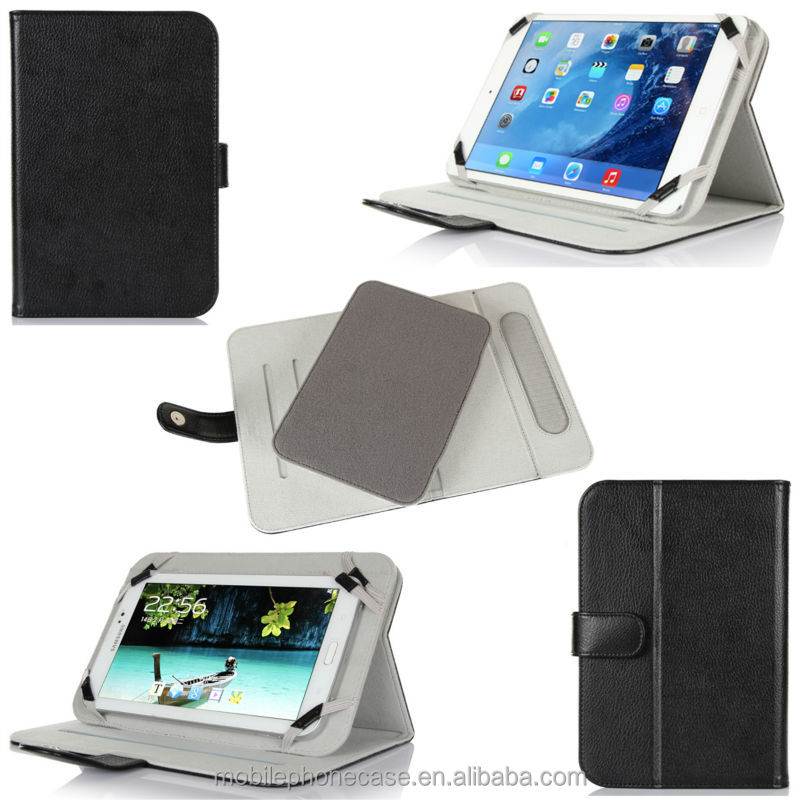 Removable Leather Tablet Cover Custom Universal Flip Tablet Case For 7-8inch