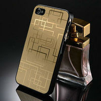 Luxury gold plating case for iphone 4
