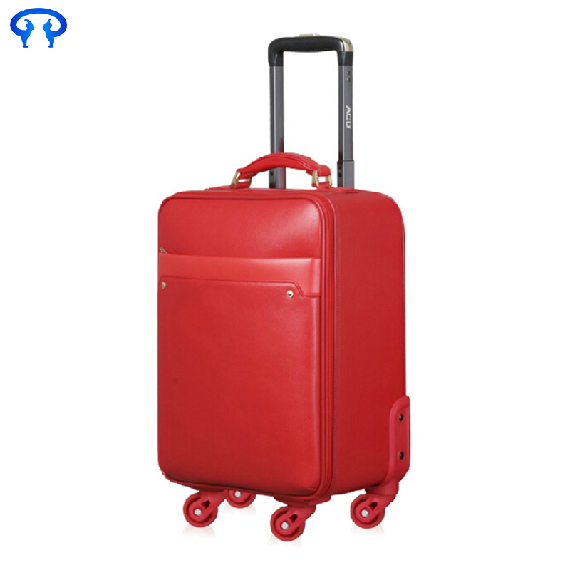pu wedding dress trolley case caster suitcase fashion luggage