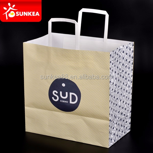 Name different types coated paper bag with different handle types