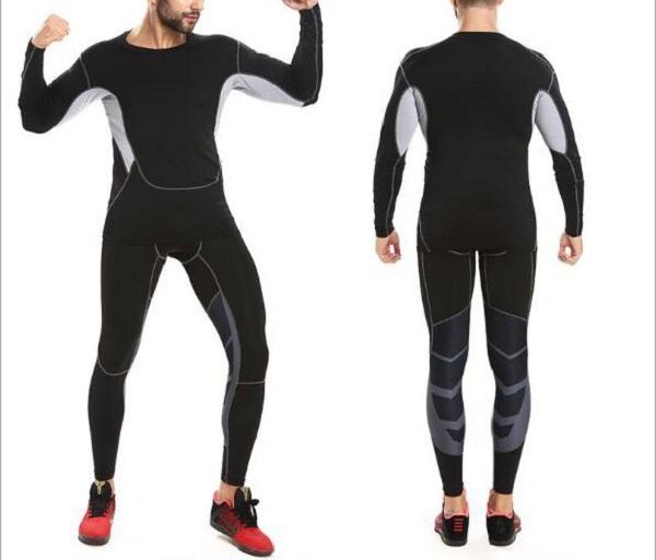 China Wholesale Men's Clothing Gym Sport Wear Tight Men's t shirts Custom Printing Men's t shirts