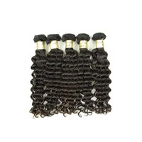 XBL Free Shipping 100% Raw Indian Deep Wave Human Hair for Braiding