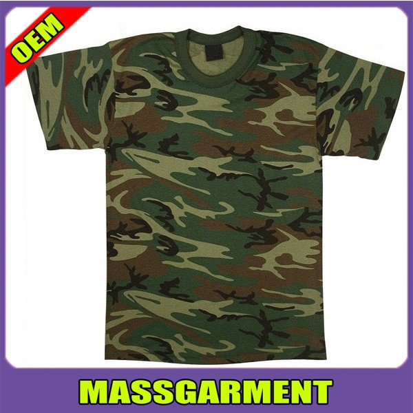 Custom Mens Blank Miltary Camouflage T Shirt Wholesale