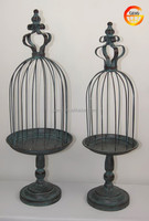 Hot selling Metal decorative bird cage with pedestal