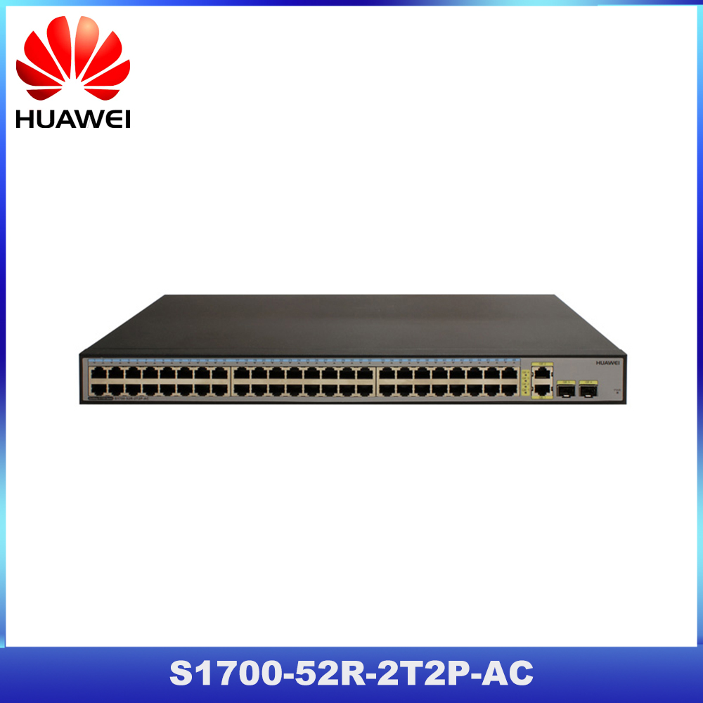 High quality Huawei S1700 52R-2T2P-AC 48-port ethernet switch for SOHO