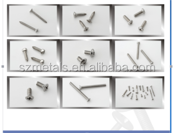 316ss furniture hardware screw and nut bolt