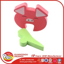 Child home safety EVA animal cute door stopper wholesale baby care products