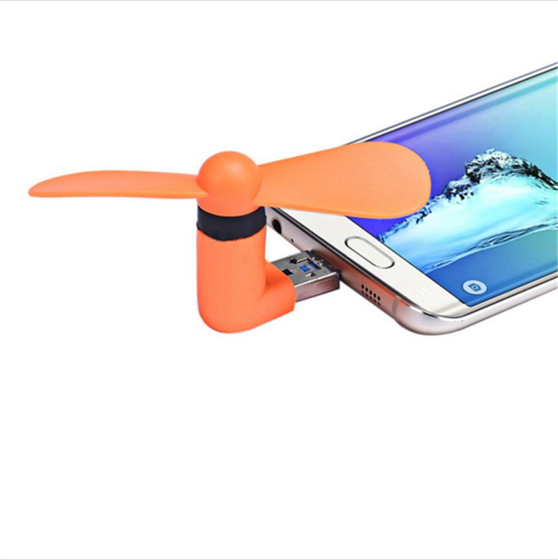 Promotion Gift Portable Cooling Fan <strong>Mini</strong> 2 in 1 Phone Fan for Apple For Android Phone