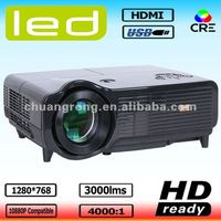 3000lumens native 1280*768 LED Beamer HD Ready LCD Video Projector