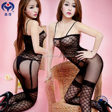 Sexy hot girls nylon full body stocking women sexy transparent lingerie bodystocking