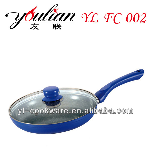 Aluminum ceramic Non-stick Frypan/Frying Pan With glass lid cover