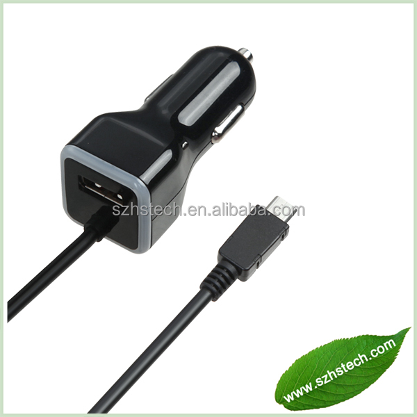 High Quality Genuine Micro USB Car Charger For HTC Samsung Blackberry LG Motorola Sony Mobile Cell Smart Phone