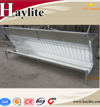 Galvanized hay bale feeder for horse and cattle