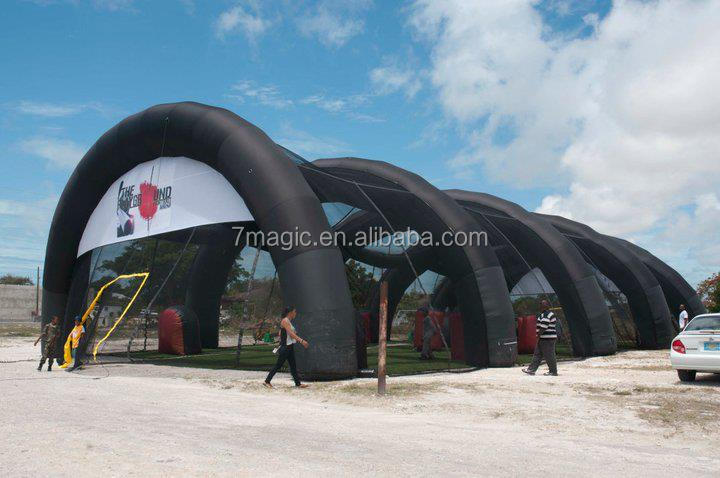 inflatable paintball field/inflatable paintball shooting range