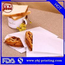 guangzhou grease proof sharp bottom fast food paper bag/ bags for French fries fired chicken