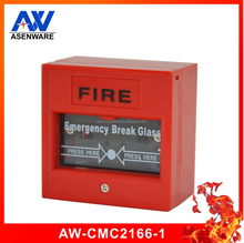 Fire alarm button Emergency Glass Break red color manual call point