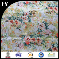 Digital printed custom 100 polyester satin a little heavy fabric