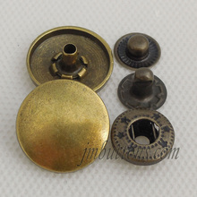 Factory wholesale metal press stud buttons for clothing
