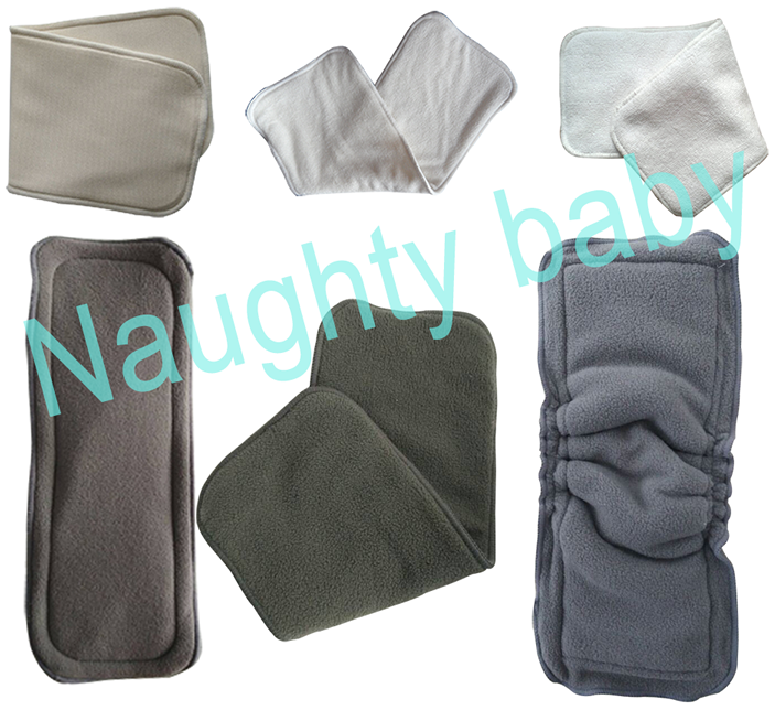Naughtybaby cloth diaper insert 4 layers bamboo charcoal insert 5 layers cotton hemp microfiber insert 3 layer MF insert