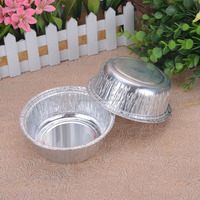 food grade disposable round aluminum foil tray/wholesale take away food containers
