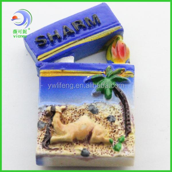 OEM high quality 3d custom decoration resin fridge magnet