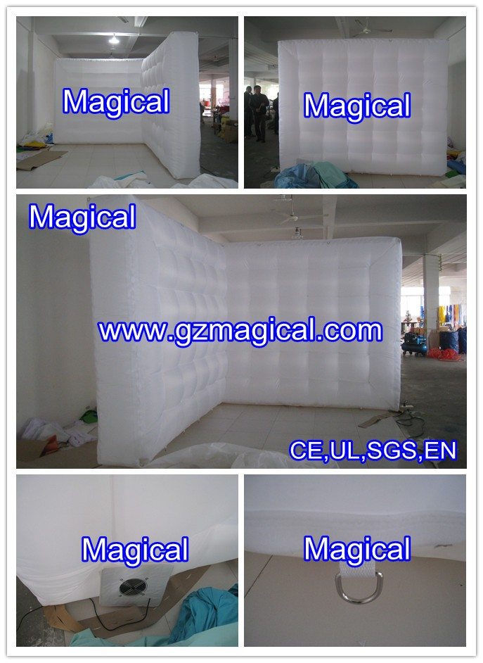 customized partition walls exhibition decoration inflatable wall