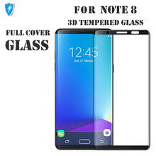 High definition 9h full cover 3d curved tempered glass for samsung galaxy note 8 screen protector